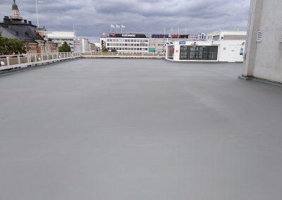 Kattopysäköintialueen polyureapinnoitus 1182m2